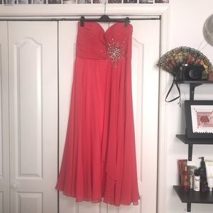 Jovani Coral Beaded Prom Dress